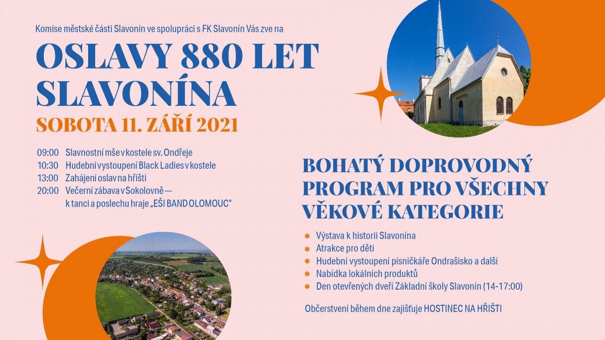 Oslavy 880 let Slavonína